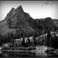 Sundial Peak in Black and White