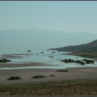 Antelope Island in September, too....