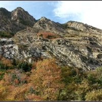 Little Cottonwood Canyon - Mountains in Fall