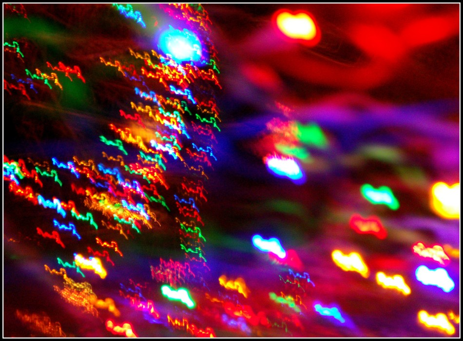 Blurry Christmas Lights in Motion