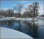 Liberty Park Duck Island inWinter