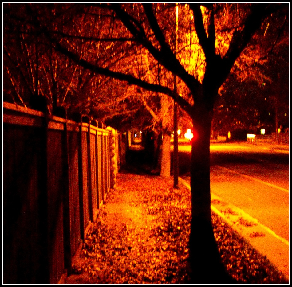 Amber street light