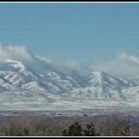 Oquirrh Mountain Cloudy Panorama