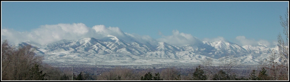 Oquirrh Mountains cloudy panorama