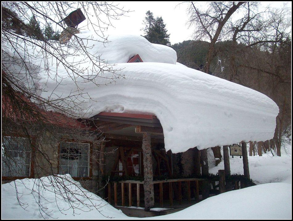 Snowy roof, Porter Fork, Utah