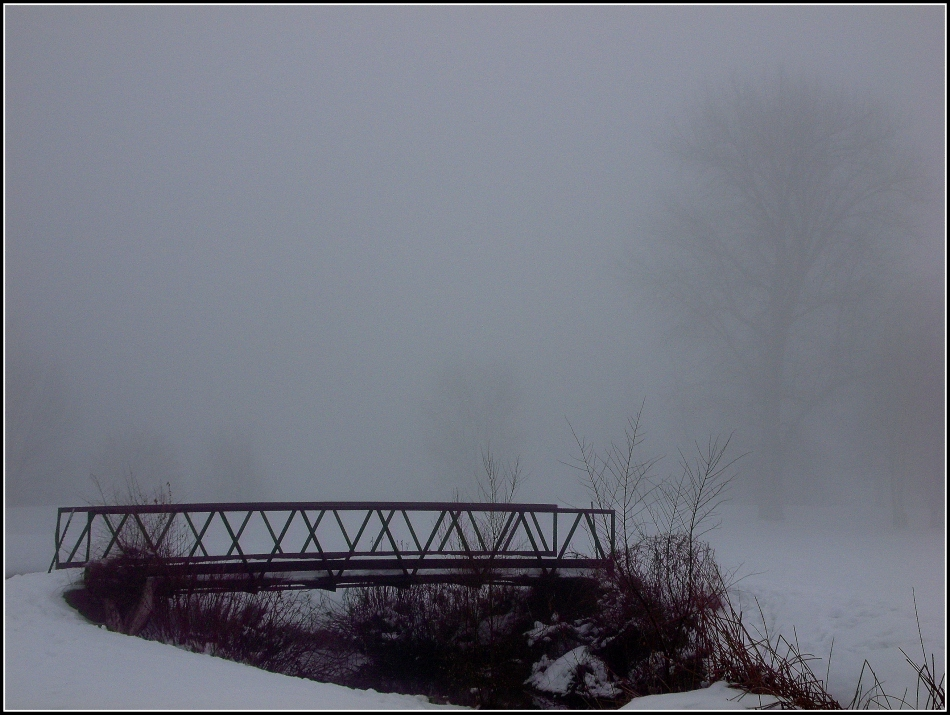 Bridge with fog