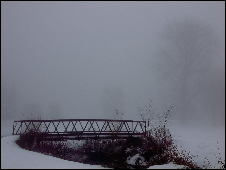 Bridge with fog