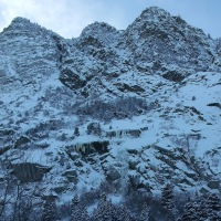 Ice Climbing in Little Cottonwood Canyon, Utah