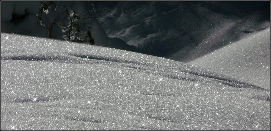sparkling snow dunes