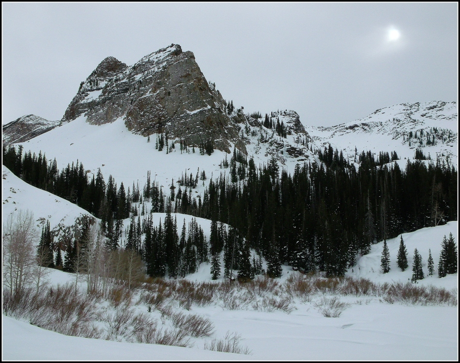 Sundial Peak in Winter