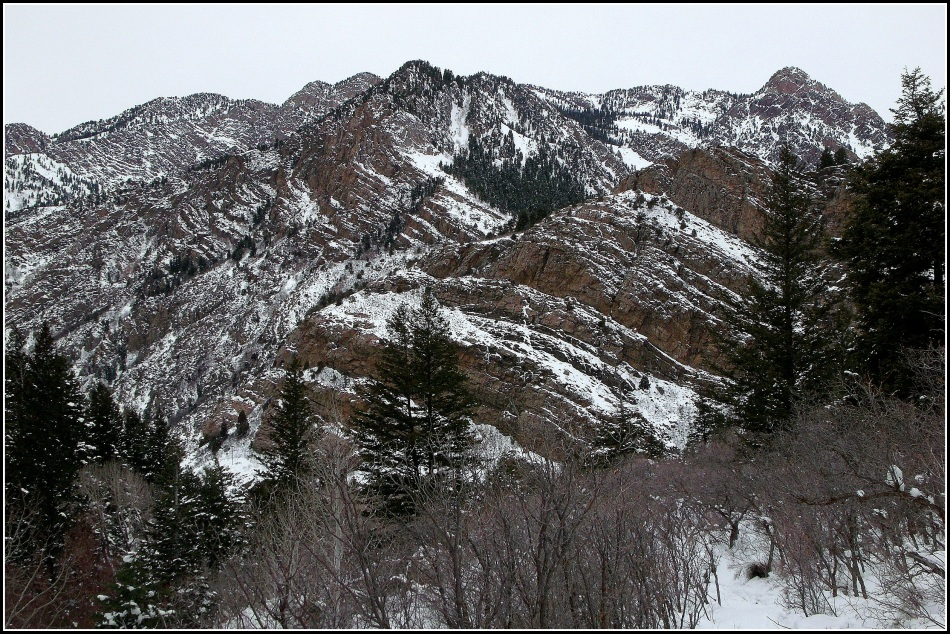 Wasatch Mountains with Snow