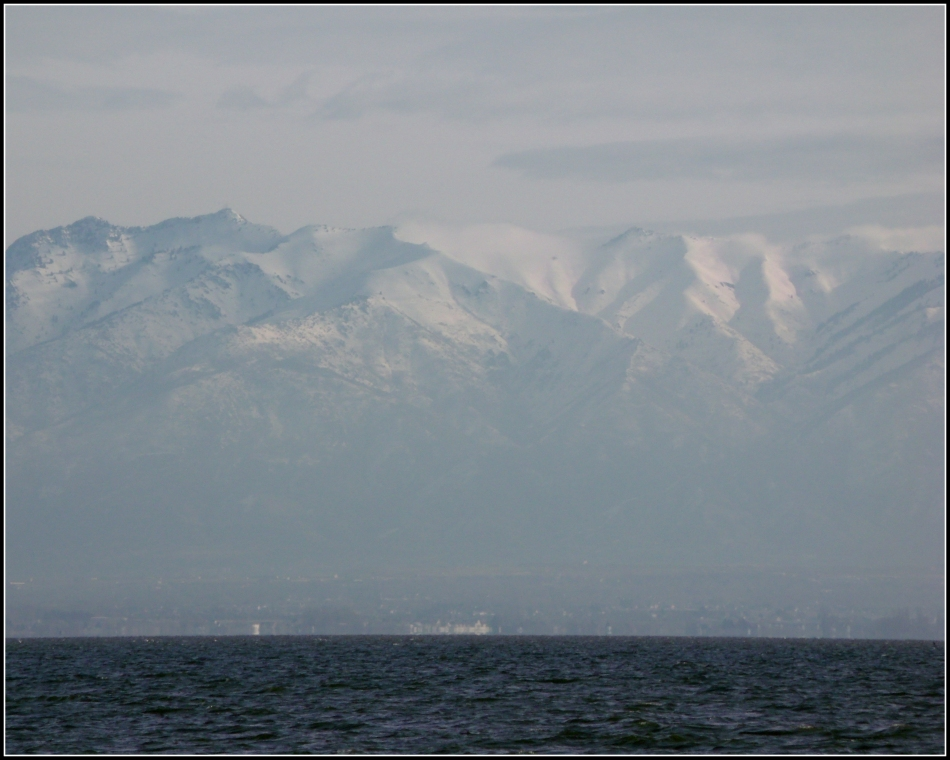 Wasatch Mountains over the Great Salt Lake