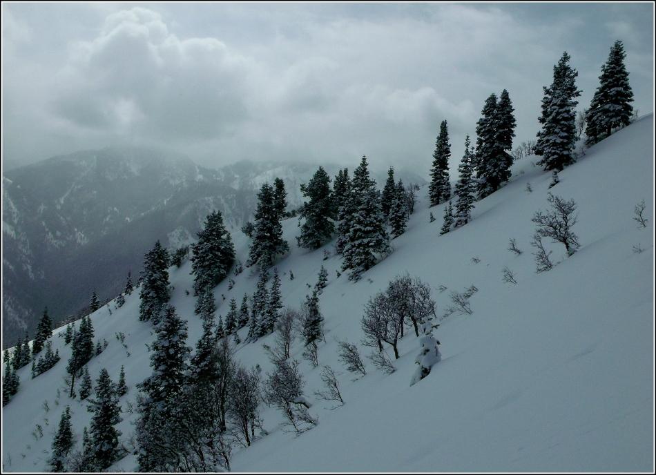 Clouds and ridge-line to Grandeur Peak, Utah