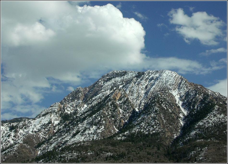 Clouds over Mt. Olympus, Salt Lake City, Utah