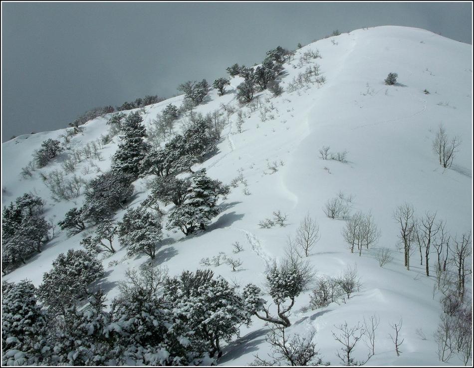Grandeur Peak, Utah, on a snowy Sunday in March, 2013