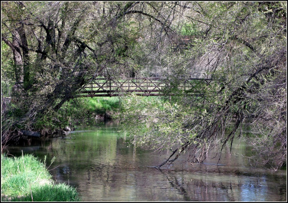 Jordan River Bridge in Spring