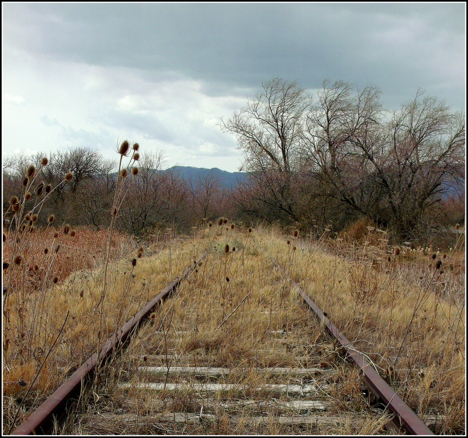 abandoned rail-line, Tintic Standard Reduction Mill, Goshen, Utah