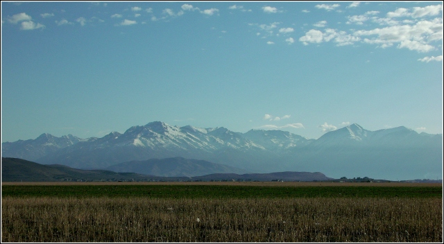 East toward the Wasatch from Eagle Mountain, Utah