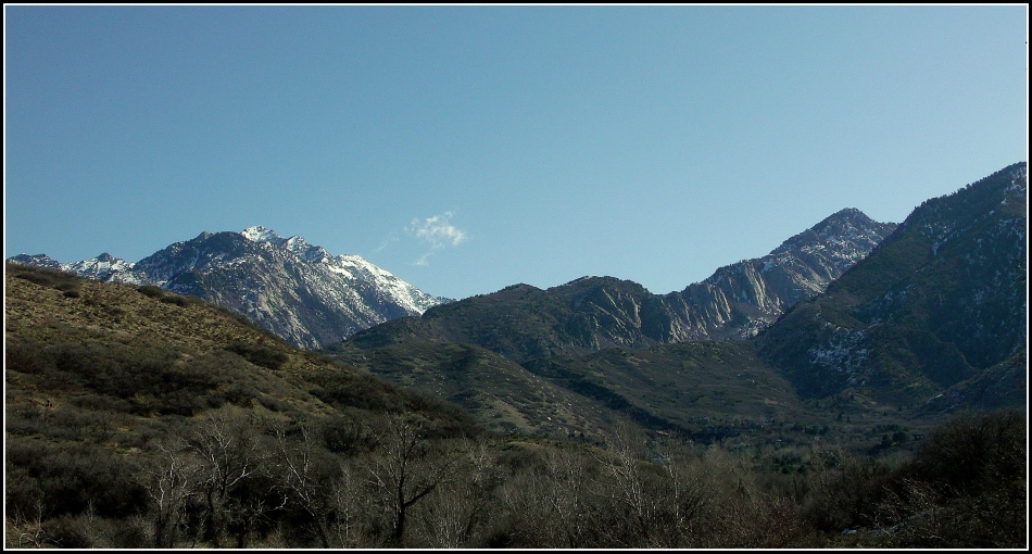 Wasatch Mountains from Dimple Dell Trail