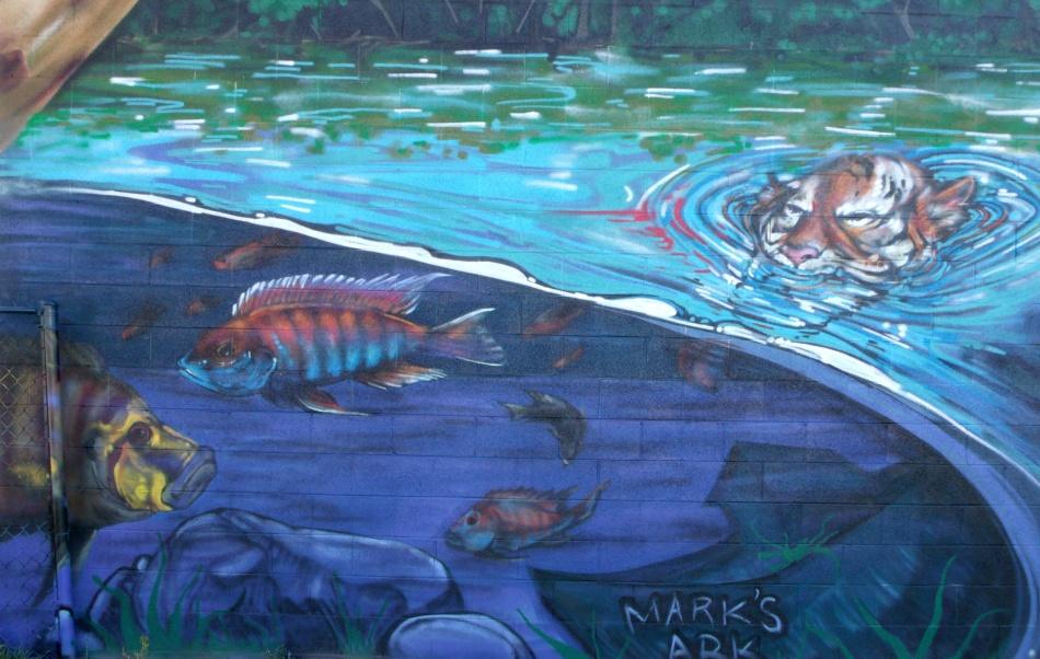 Urban Jungle Mural Mark's Ark underwater