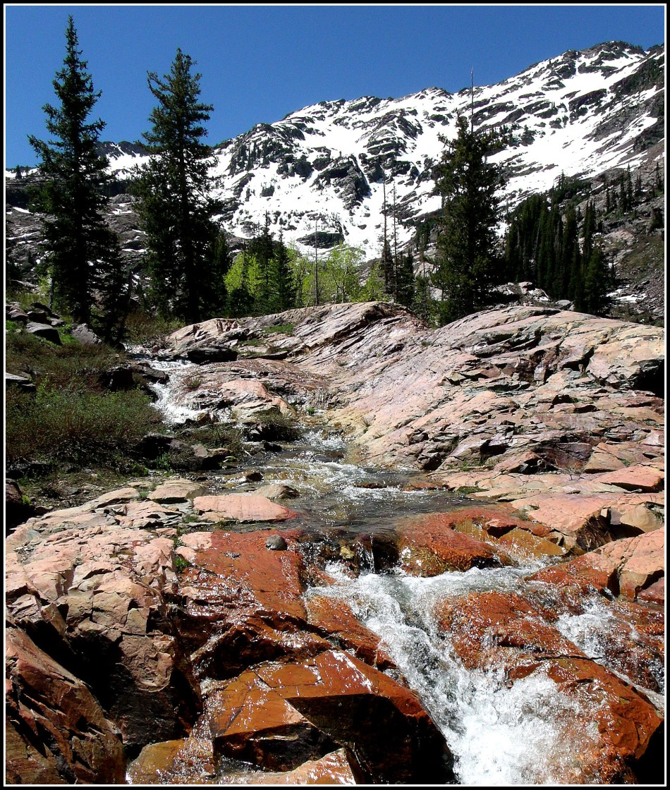 Lake Lillian overflow in Wasatch Mountains