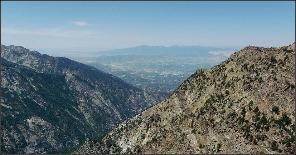 Looking out over Salt Lake valley