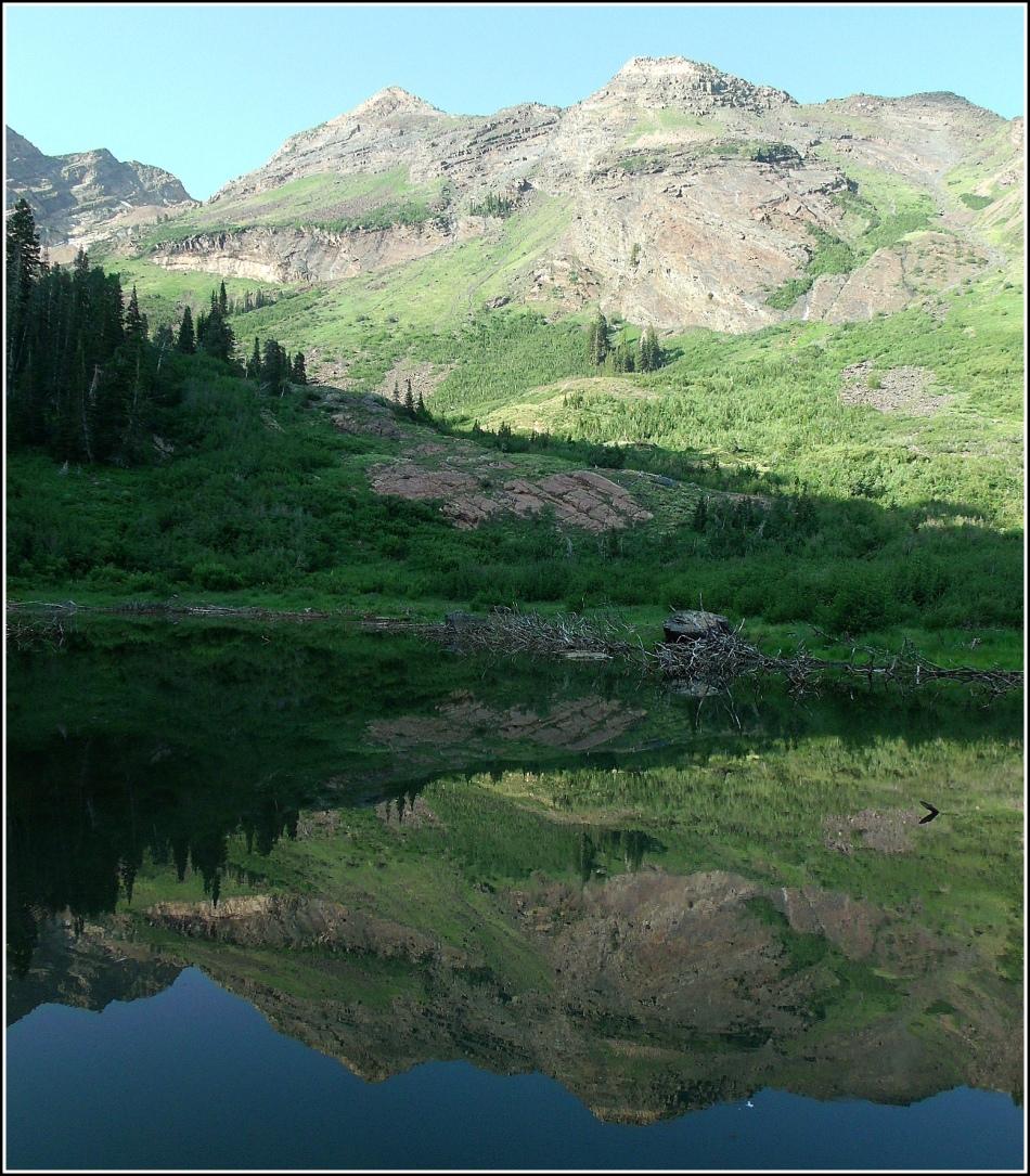Broads Fork Twin Peaks morning reflection
