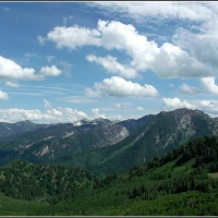 Big Cottonwood Canyon from Baker's Pass