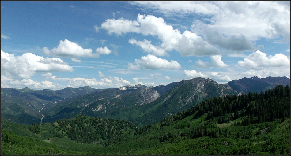 Wasatch Mountains and Clouds