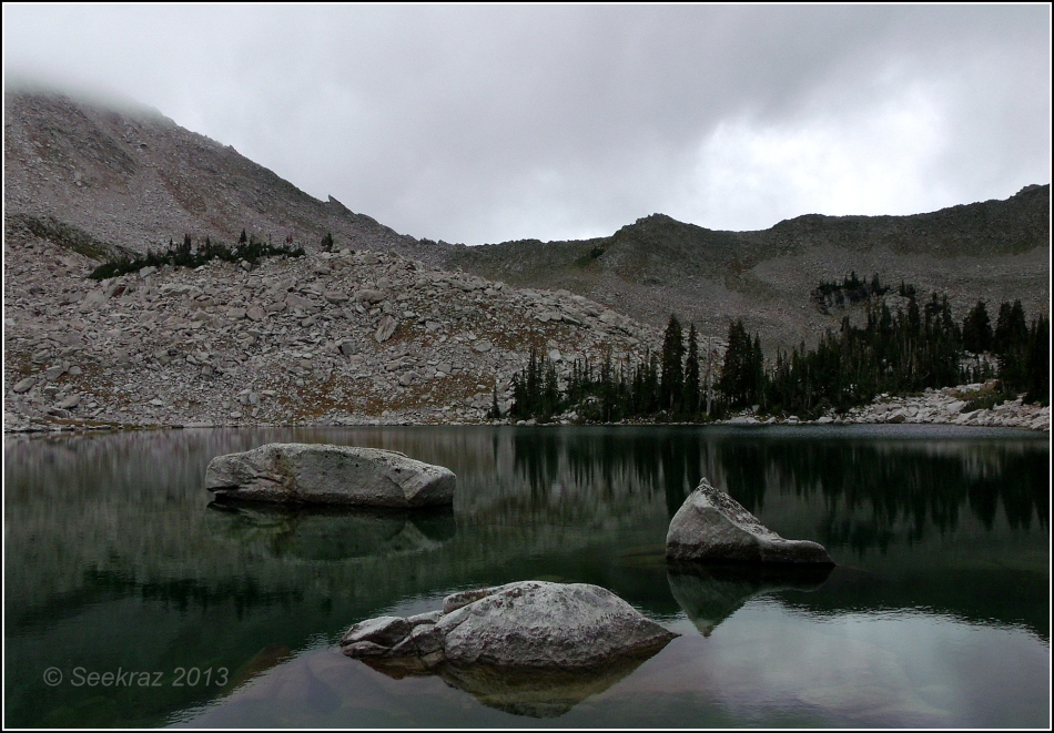 Upper Red Pine Lake under clouds 1