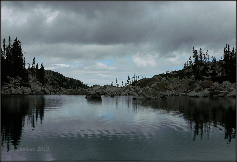 Upper Red Pine Lake under Clouds 2
