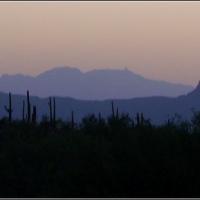Tucson Mountain Silhouette