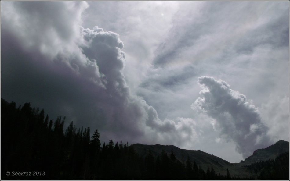 Elephant cloud over White Pine Canyon