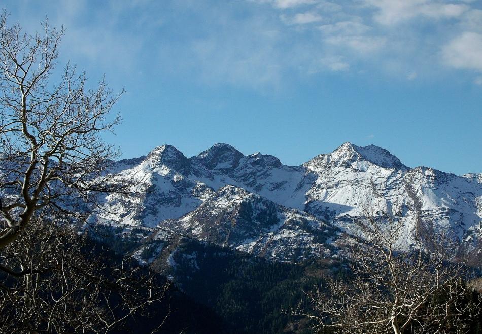 Wasatch peaks...