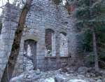 West wall of Columbus Consolidated Hydro-electric plant ruins, Little Cottonwood CanyonUtah