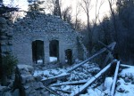 Inside ruins of Columbus Consolidated power station ruins, Little Cottonwood CanyonUtah