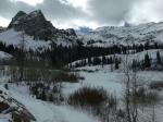 Sundial Peak and Lake Blanche shoreline undersnow