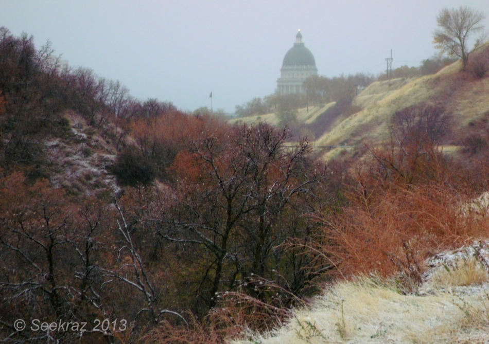 Utah State Capitol Building from City Creek Canyon