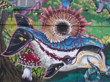 Korner Market mural whale