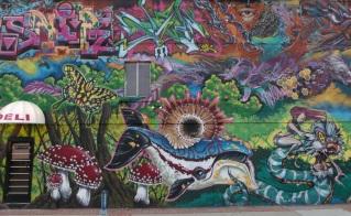 Korner Market mural center panel