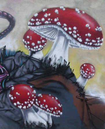 Korner Market Mural mushrooms