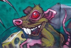 Korner Market mural rat
