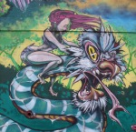 Korner Market mural snakerider