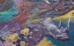 Korner Market muralrhinoceros