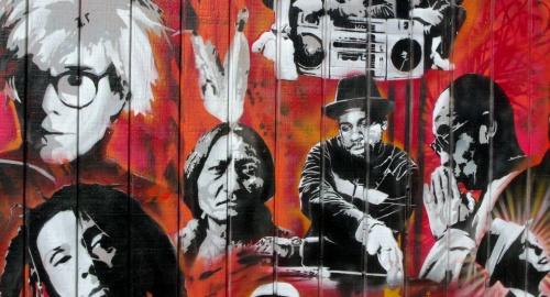 Utah Arts Alliance Legends mural close-up 1