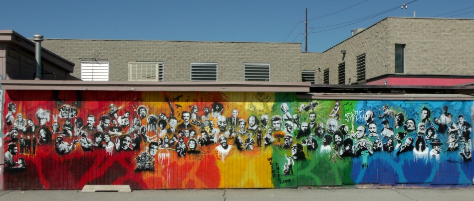 Utah Arts Alliance Legends mural complete
