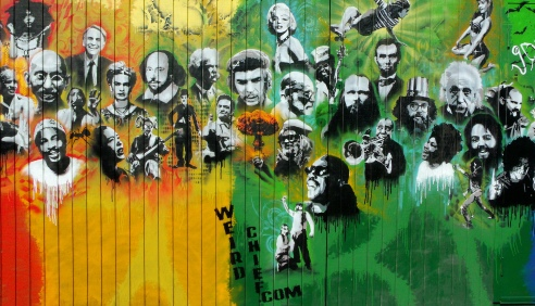 Utah Arts Alliance Legends mural - mid-right panel
