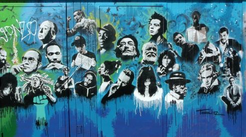 Utah Arts Alliance Legends mural - right panel