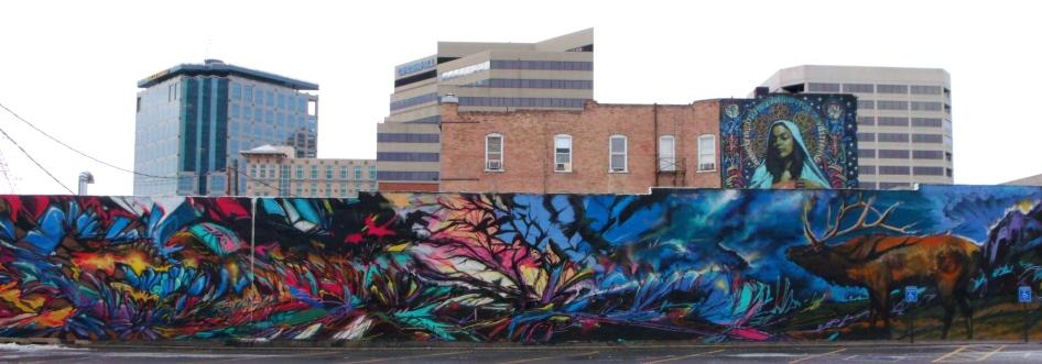 Gallenson's elk mural entire