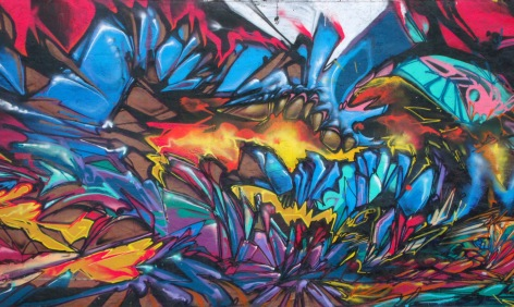 Gallenson's elk mural far left panel